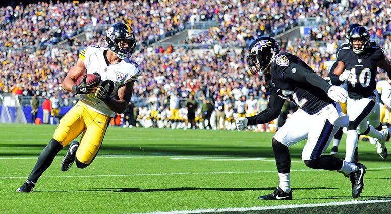 Steelers James Conner touchdown against Baltimore Ravens