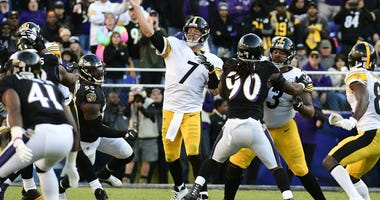 Pittsburgh Steelers quarterback Ben Roethlisberger against Baltimore Ravens