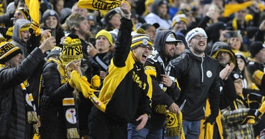 Steelers fans cheering