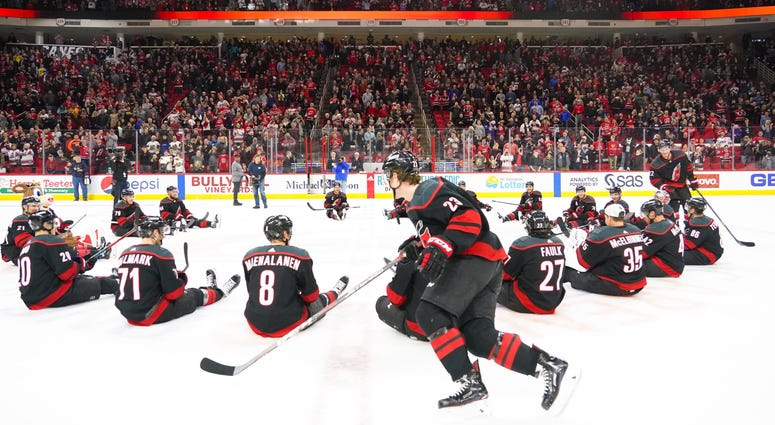 Hurricanes celebrate with duck, duck, goose