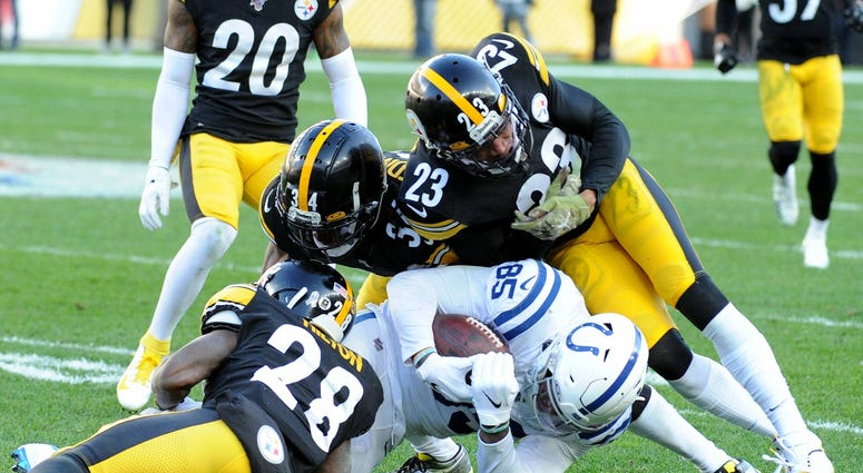 Tight End Eric Ebron faces the Steelers