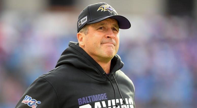 Ravens head coach John Harbaugh