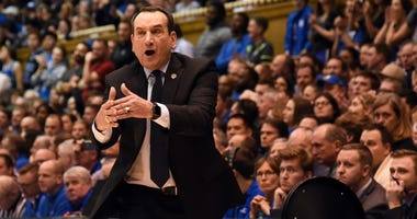 Durham, North Carolina, USA;Duke Blue Devils head coach Mike Krzyzewski
