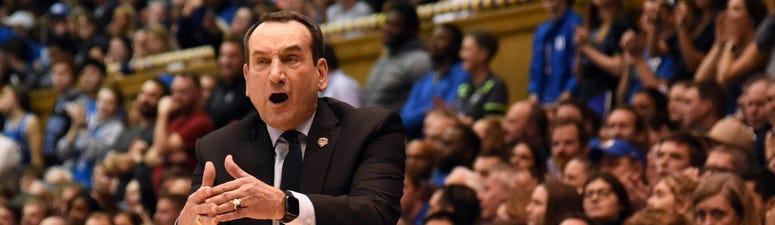 Durham, North Carolina, USA;Duke Blue Devils head coach Mike Krzyzewski