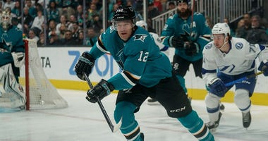 San Jose, California, USA; San Jose Sharks left wing Patrick Marleau (