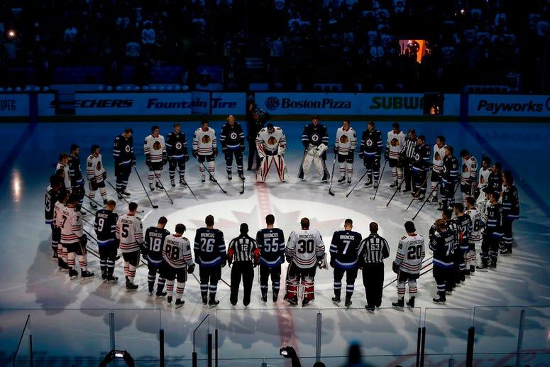 Winnipeg Jets and Chicago Blackhawks