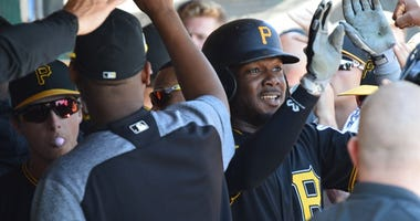 Josh Bell in dugout