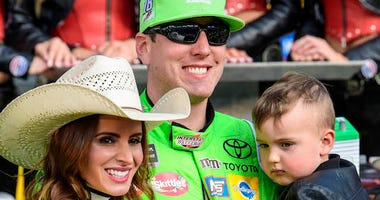 Kyle, Samantha and Brexton Busch Celebrate Texas Win