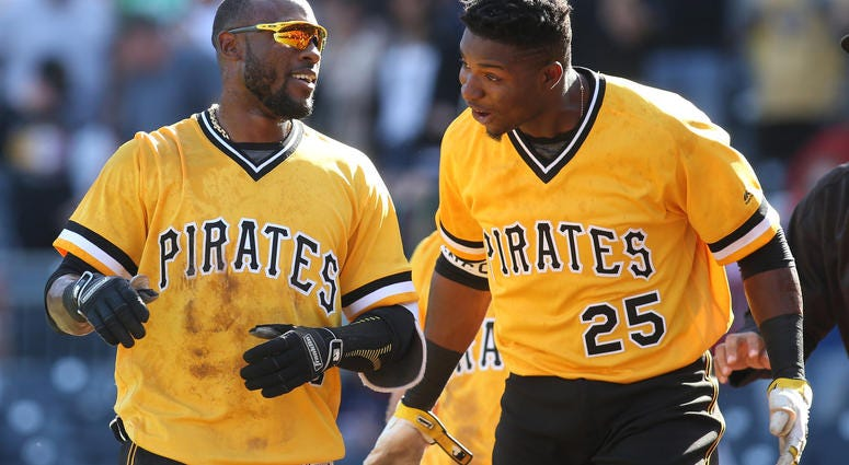 Pirates Outfielders Starling Marte and Gregory Polanco