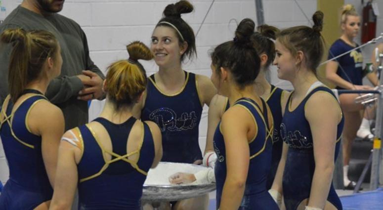 group of Pitt gymnasts