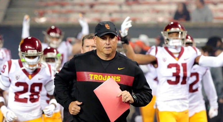 Southern California head coach Clay Helton