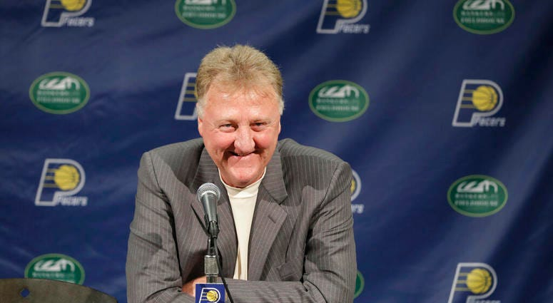 Indiana Pacers NBA basketball team president Larry Bird