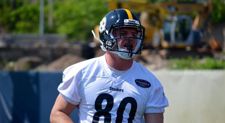 Steelers TE Jake McGee during OTAs