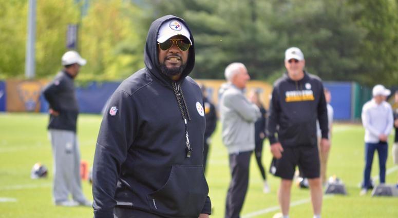 Steelers coach Mike Tomlin at OTAs in 2019