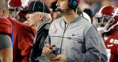 Alabama offensive coordinator Steve Sarkisian