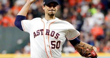 Houston Astros starting pitcher Charlie Morton