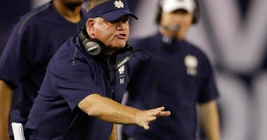 Notre Dame coach Brian Kelly