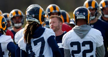 Los Angeles Rams head coach Sean McVay
