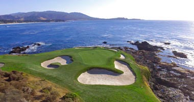 seventh green of the Pebble Beach Golf Links in Pebble Beach, Calif. The U.S. Open golf tournament is scheduled at Pebble Beach from June 13-16, 2019.