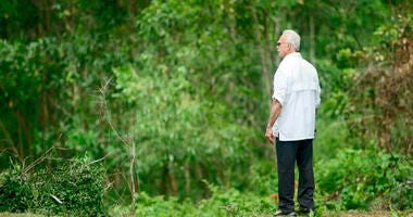 Rocky Bleier stands in Hiep Duc Valley, about 35 miles south of Danang in Vietnam