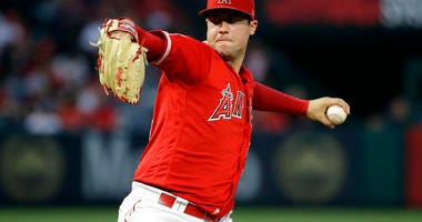 Los Angeles Angels starting pitcher Tyler Skaggs