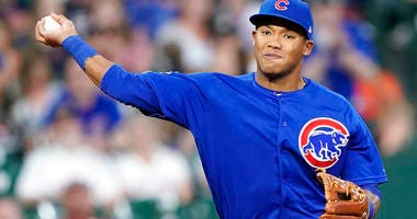 Chicago Cubs shortstop Addison Russell