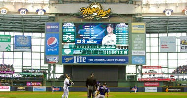 In this April 6, 2015, file photo, Milwaukee Brewers outfielder Ryan Braun steps into the batters box