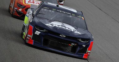 Alex Bowman's No. 88 Chevrolet Leads The Field At The Camping World 400 At Chicagoland