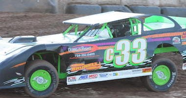 Corey McPherson's No. 33 Pro Stock Racing Around Lernerville Speedway