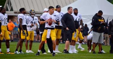 Steelers QB Mason Rudolph at training camp 2019