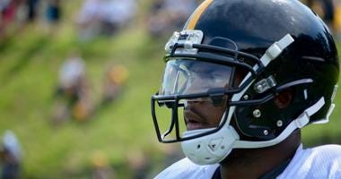 Steelers WR Juju Smith-Schuster looks on during 2018 Training Camp