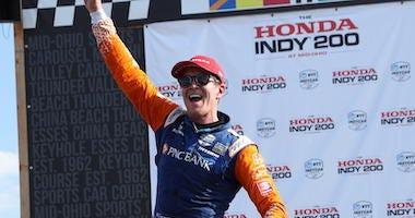 PNC Bank Chip Ganassi Racing's Scott Dixon Wins The Honda Indy 200 At Mid-Ohio
