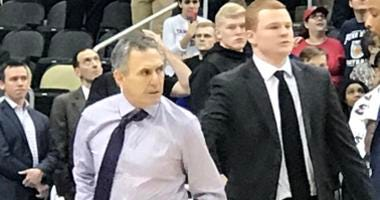 Duquesne coach Keith Dambrot after being ejected during game vs Penn State in December 2018