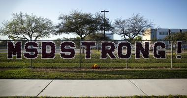 February 14, 2019; Parkland, FL, USA; The fence around Marjory Stoneman Douglas High School