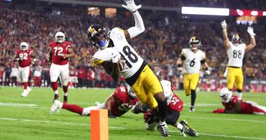 Pittsburgh Steelers wide receiver Diontae Johnson (18) against the Arizona Cardinals in the second half at State Farm Stadium.