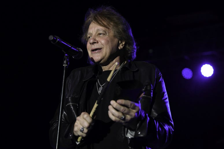 Eddie Money performs at the Pompano Beach Amphitheatre