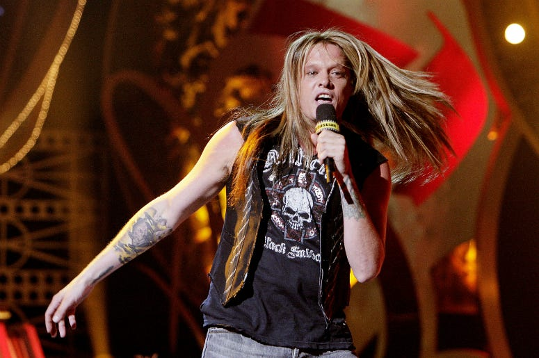 Sebastian Bach, formerly of Skid Row, performs in 2007