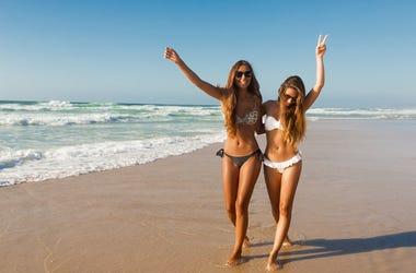 ladies on beach