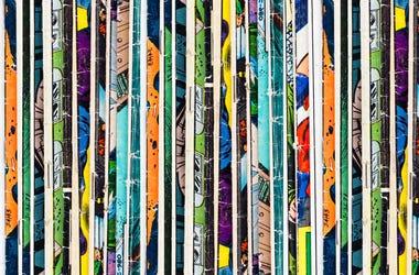 Stack of comic books