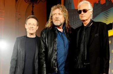 File photo dated 21/09/12 of (left to right) John Paul Jones, Robert Plant and Jimmy Page of Led Zeppelin