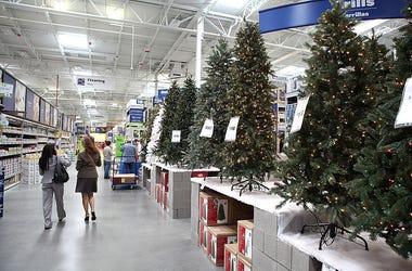 Half Christmas Trees