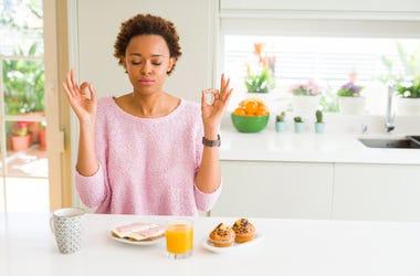 Eating Breakfast alone