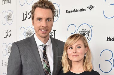 Director Dax Shepard and actress Kristen Bell attend the 2015 Film Independent Spirit Awards at Santa Monica Beach on February 21, 2015 in Santa Monica, California.