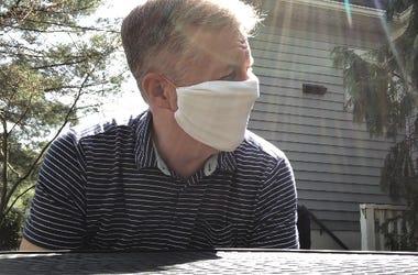 Greg makes a mask