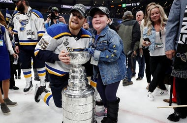 St. Louis Blues Stanley Cup and Laila Anderson