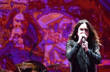 Ozzy Osbourne performing at Ozzfest 2016