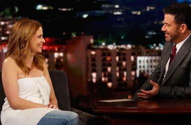 Jenna Fischer on Kimmel
