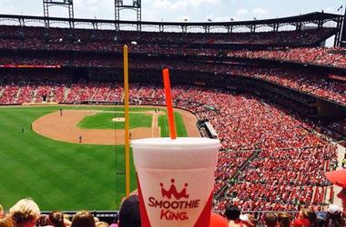 Smoothie King smoothie in Busch Stadium in St. Louis