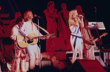The Swedish pop band ABBA plays on final tour in 1979.