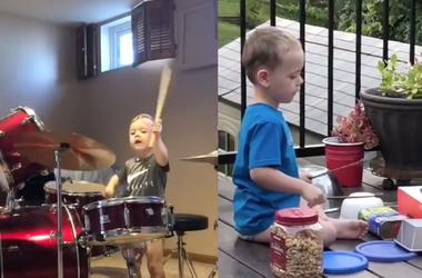 Luca the 4-year-old drummer from St. Peters